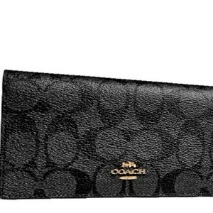 Coach wallet in signature canvas
